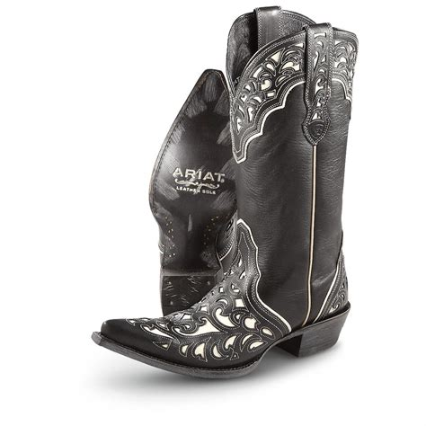 cowboy boots womans s ariat 174 13 quot presidio cowboy boots black