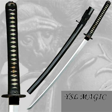 Katana Tsuba Black swords black samurai katana tang blood groove paul chen tsuba was listed for r799