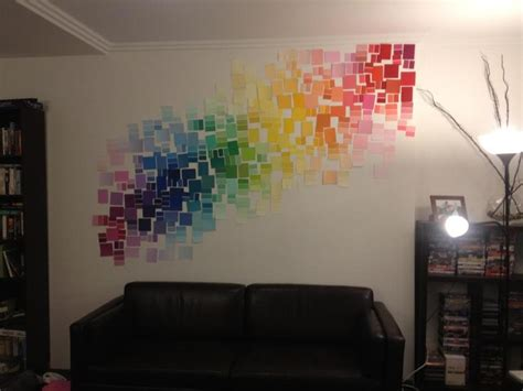 paint my walls my new feature wall made from hundreds of paint colour