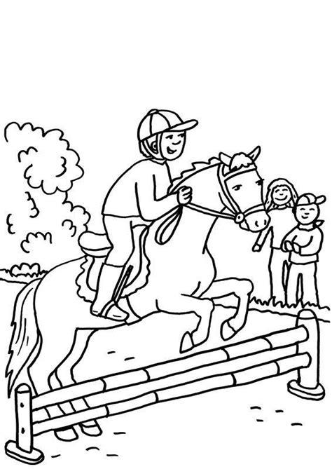 wellcome  image archive ausmalbilder pferde springreiten