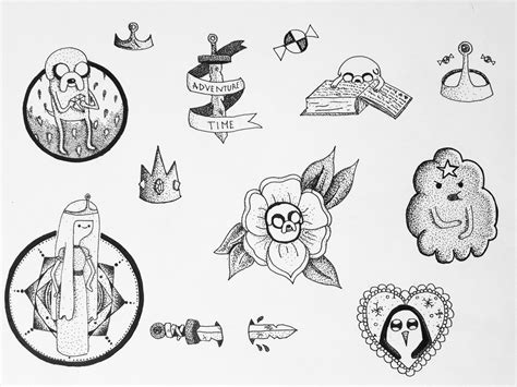 time tattoos designs adventure time designs by pixiebmth on deviantart