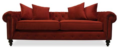 red velvet tufted sofa andy plush velvet tufted sofa with nailheads red 90