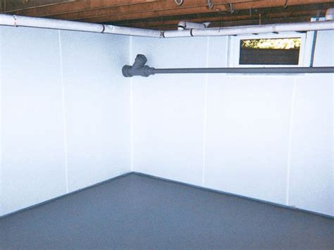 BrightWall Waterproof Basement Wall Covering in NC   Wet
