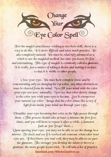 spell to change eye color 17 best images about spells on happy