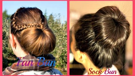 hairstyles tutorial on dailymotion fan and sock bun hair tutorial video dailymotion