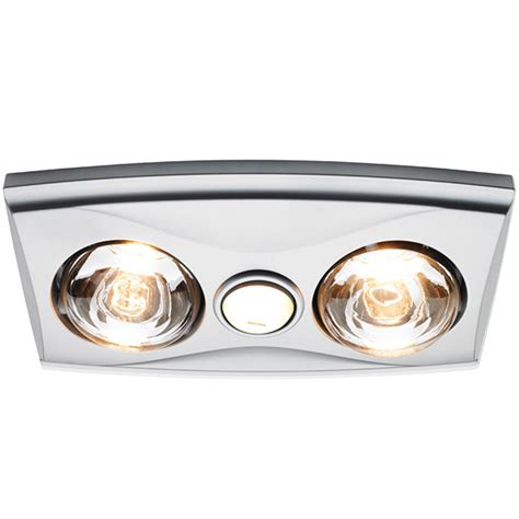 Heat Lights For Bathrooms Silver Heller Ceiling Light Heater Globe Ducted Exhaust Fan Bathroom Heat L Ebay