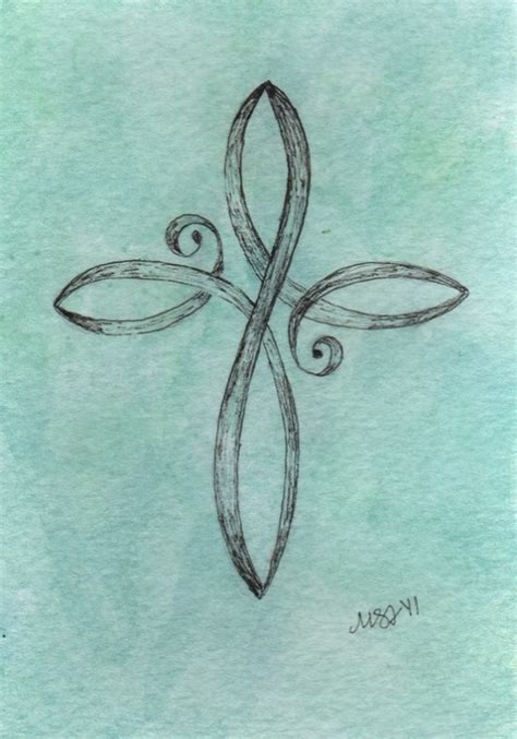 pretty cross tattoo infinity cross