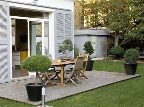 Terrasse Bois Et Carrelage 832 by Decoration D Exterieur Pour Terrasse Amenagement Jardin