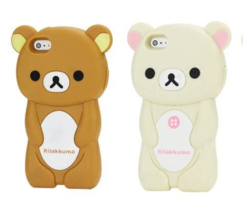 Rilakkuma Softcase Iphone 4 4s 5 5s S4 Limited rilakkuma iphone 5 3d style kawaii