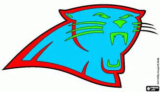 what color are panthers free coloring pages of panthers football