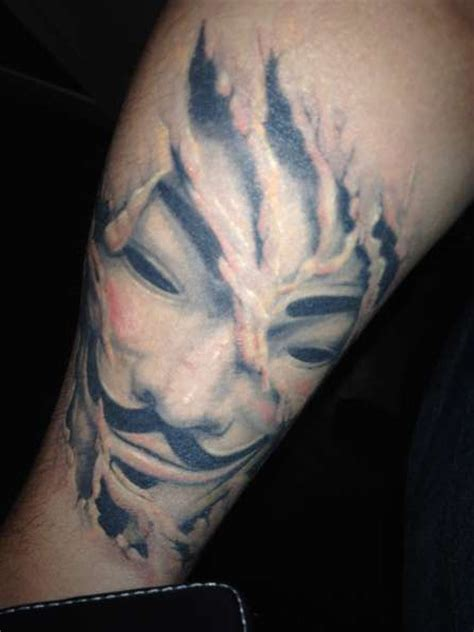 guy fawkes tattoo fawkes anonymous mask