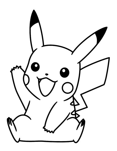 Pokemon Black And White Pikachu Coloring Pages Get Black And White Coloring Pages