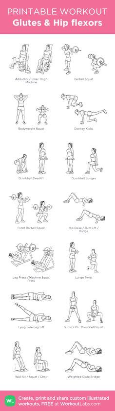 printable hip flexor stretches printable workout pack with exercise illustrations for men