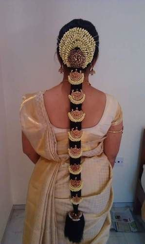 Simple Indian Bridal Hairstyle