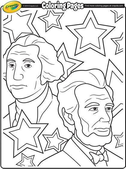 presidents day coloring pages for kindergarten george washington and abraham lincoln coloring page