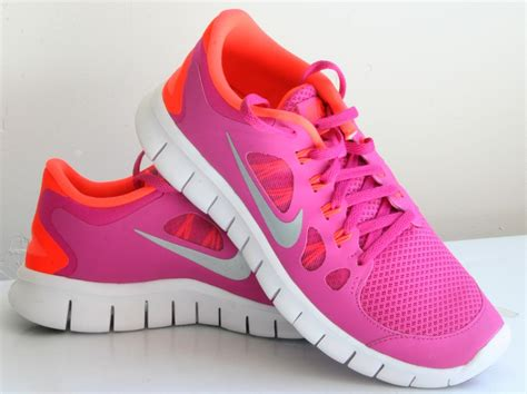 nike pink running shoes new nike free run 5 0 gs running shoes womens youth 7 5 8