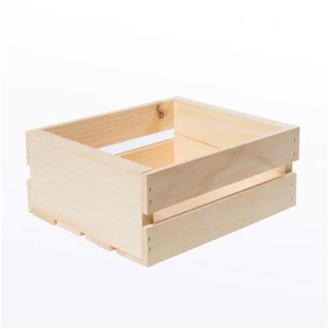 Home Depot Small Wood Box Houseworks Crates And Pallet 11 75 In X 9 5 In X 4 75 In