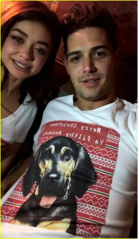 sarah hyland christmas sarah hyland spends christmas with boyfriend wells adams