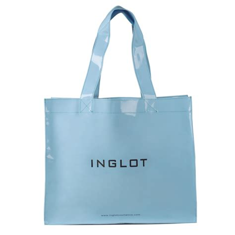 shopping bags patented shopping bag pastel blue inglot cosmetics