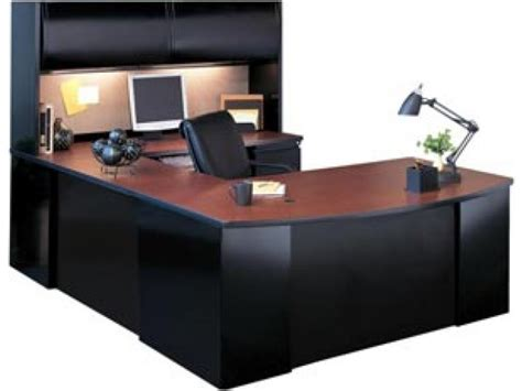 exec u shaped office desk with hutch csii 7265 office desks