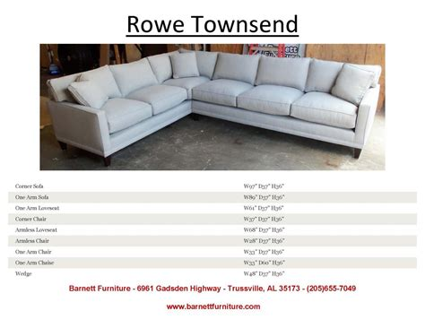 Rowe Townsend Sectional by Rowe Townsend Sectional