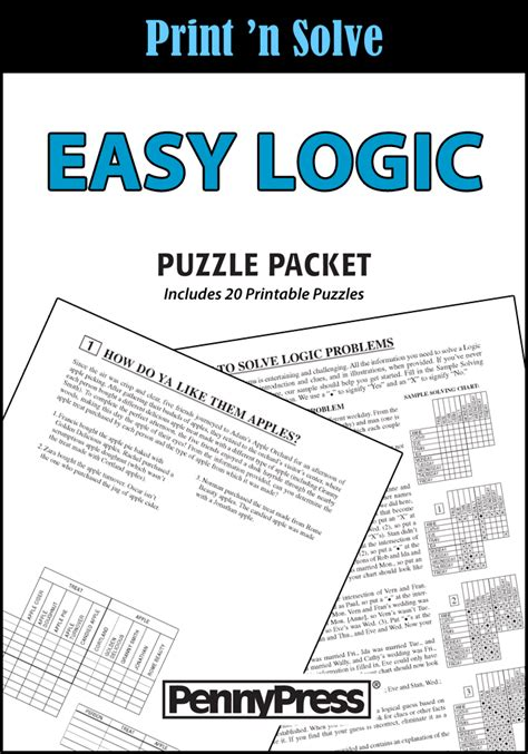 easy logic puzzle packet penny dell puzzles