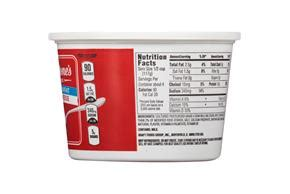 serving size of cottage cheese breakstone s small curd 2 milkfat lowfat cottage cheese