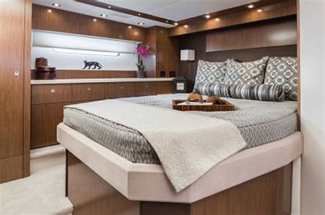 yacht bedding cruisers yachts 48 cantius the full beam master is the