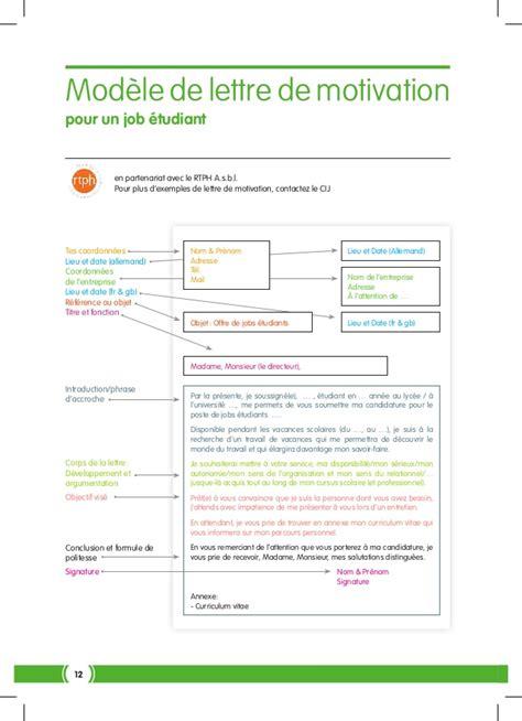Lettre De Motivation Candidature Spontanée Pour N Importe Quel Poste 37324 Cij Job Etudiant Int Finale