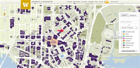 uw map univ of washington map