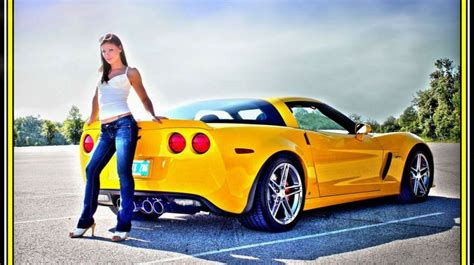 girl themes c1 chevy girls wallpapers z06 lady chevy yellow model sexy