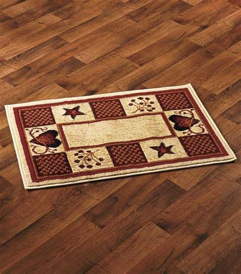 Rustic Kitchen Rugs by Rustic Primitive Country Hearts Berries Accent Rug 22 Quot X