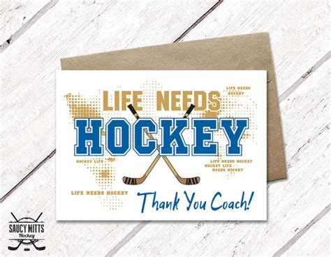 Hockey Coaches Card Template by Thank You Hockey Coach Card Needs Hockey