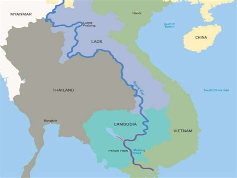 mekong river map mekong river