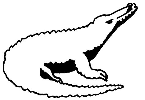 Crocodile Image Outline by Animals