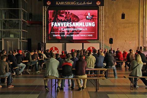 Autoaufkleber 1 Fc Kaiserslautern by F 252 Nfte Fanversammlung In Der Nordtrib 252 Ne Der Betze Brennt
