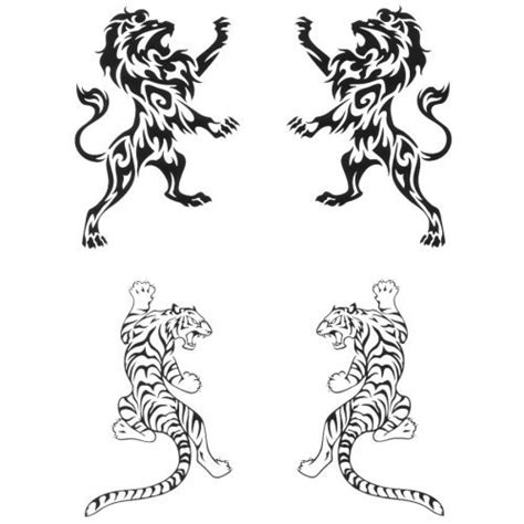 lion henna tattoo designs henna look water transfer tattoos lions and tigers designs