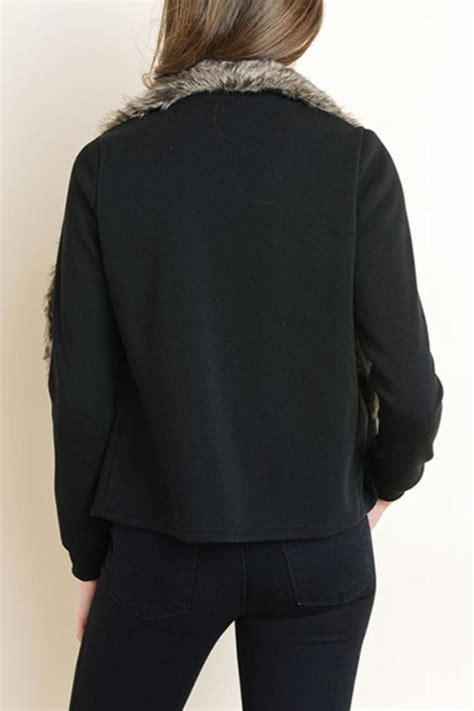 Nevada Jacket Coat Black cy usa cozy fur jacket from nevada by tipsy shoptiques