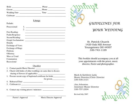 free church program templates 28 wedding church program templates free wedding