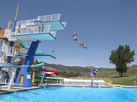 Inground Pool Designs by Diving Platforms Lava Springs Pools Amp Water Park