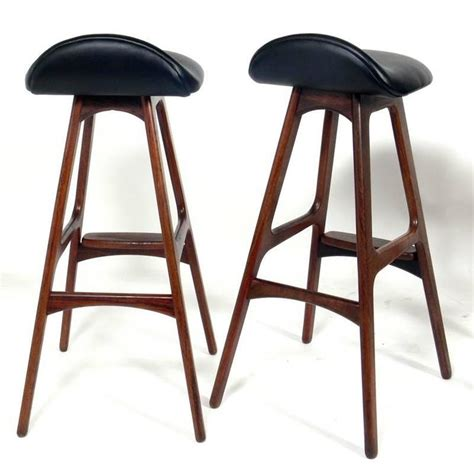 danish bar stools danish modern bar stools by erik buck at 1stdibs