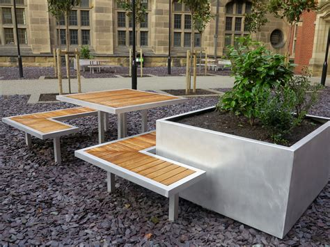 Curved Outdoor Benches External Furniture For The University Of Birmingham