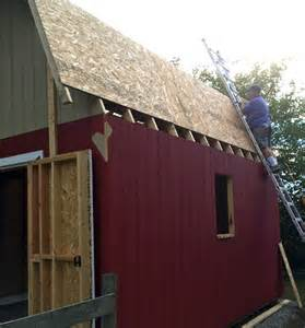 Gambrel Style Roof barn style gambrel roof shed truss roof sheeting ladder