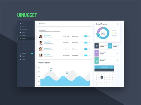 free website dashboard ui design template free psd at