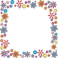 design poster borders double rows of flowers in a full frame border clip art or