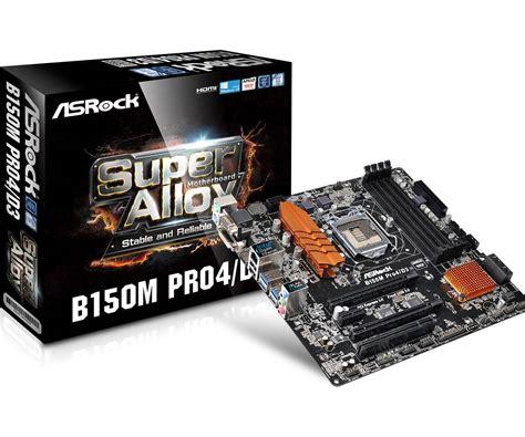 Motherboard Mainboard Intel Asrock B150m Pro4 Asrock Gt B150m Pro4 D3