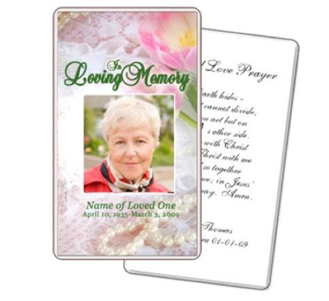 free printable memorial card template 8 best images of free printable memorial prayer cards
