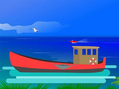 Ocean Fishing Backgrounds Blue Business Templates Green Red Templates Free Ppt Grounds Powerpoint Templates