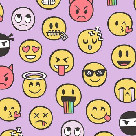 doodle emoticon smiley emoticon emoji doodle on purple purpel fabric
