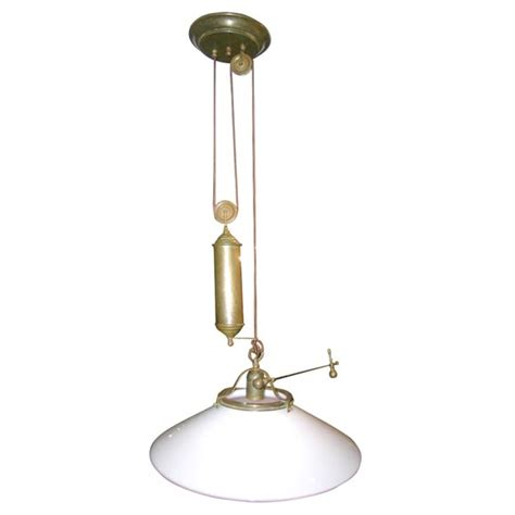 Pulley Pendant Light Fixture Country Pulley Light Fixture By Il Fanale At 1stdibs